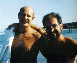 Andy Kopkind and his partner John Scagliotti 1989